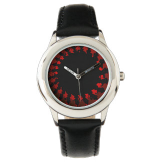 Fractal Red Black White Watch