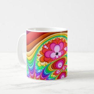 Fractal Retro Groovy Trip Coffee Mug
