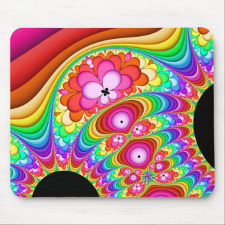 Fractal Retro Groovy Trip Mouse Pad