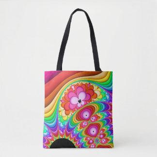 Fractal Retro Groovy Trip Tote Bag