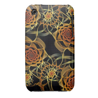 Fractal Roses, iPhone 3G/3GS Barely There Case iPhone 3 Case-Mate Case