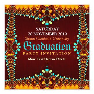 Fractal Royal Graduation Invitation