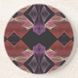 Fractal Series-4---Red Purpl Coaster 1 of   colors