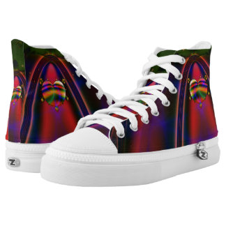 Fractal Shoes, Love Highway Printed Shoes
