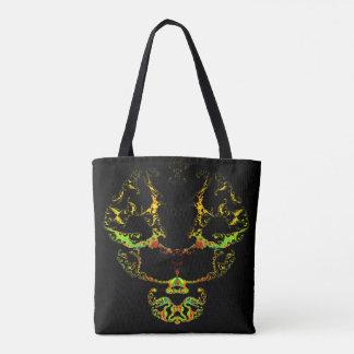 Fractal skull tote bag