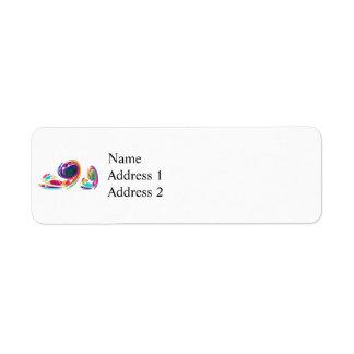 Fractal - Snail Family Return Address Label