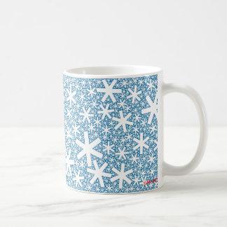 fractal snowflakes coffee mug