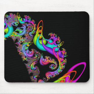 Fractal Sorbet Swirl Mouse Pad