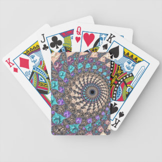 Fractal Spiral Bicycle Playing Cards