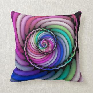 Fractal Spiral Candy Shop Cushion