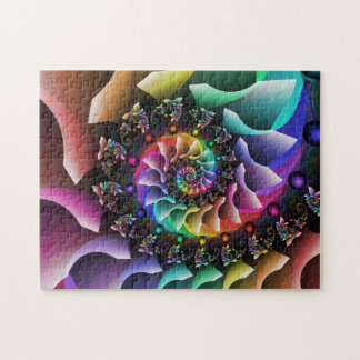 Fractal Spiral Color Parade Jigsaw Puzzle