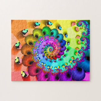 Fractal Spiral Delight Jigsaw Puzzle