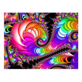 Fractal Spiral Flair Postcard