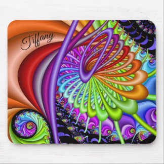 Fractal Spiral Funnel Add Name Mouse Pad