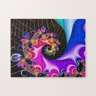 Fractal Spiral Grid Jigsaw Puzzle