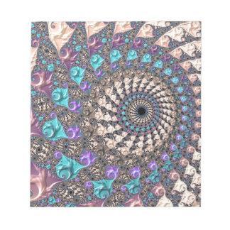 Fractal Spiral Notepad
