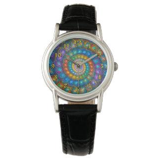 Fractal Spiral Shell Beads Watch