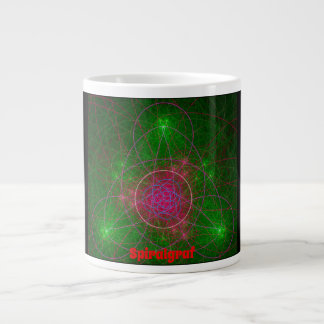 "Fractal ""Spiralgraf"" Large Coffee Mug"