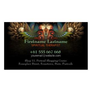 Fractal Spirit Wings w/ Logo Business Card