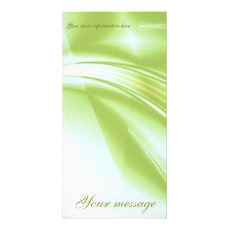Fractal Spring Spirit Photo Card Vertical