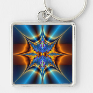 Fractal star. key ring