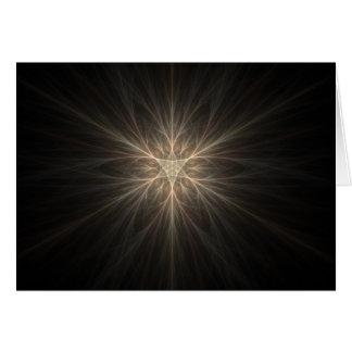 Fractal Star or Snowflake Design Card