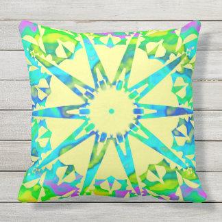 Fractal♥ star outdoor cushion