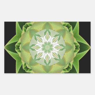 Fractal Stardust green Rectangular Sticker