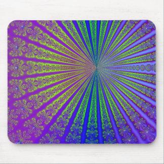 Fractal Sunburst Art Mouse Pad