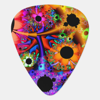 Fractal Sunflower Style Plectrum