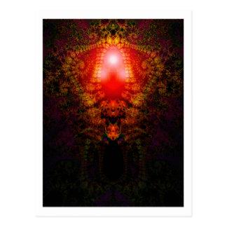 Fractal tapestry postcard