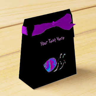 Fractal Teal and Purple Snail Shell Party Favour Boxes