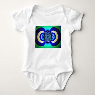 Fractal Third Eye Fantasy Digital Baby Bodysuit