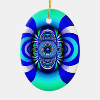 Fractal Third Eye Fantasy Digital Ceramic Ornament