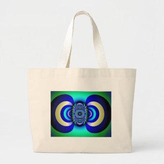 Fractal Third Eye Fantasy Digital Large Tote Bag