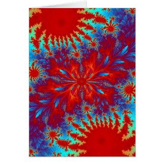 fractal tie-dye card
