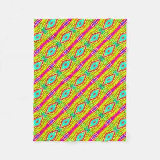 Fractal Tile Color Pop Fleece Blanket