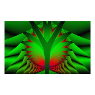 Fractal Tree - Abstract Poster Print