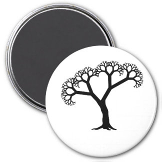 Fractal Tree Black Magnet