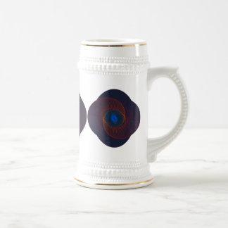Fractal Vortex Abstract Art Beer Steins