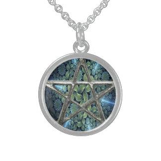 Fractal Water Pentagram Pentacle Wicca Necklace