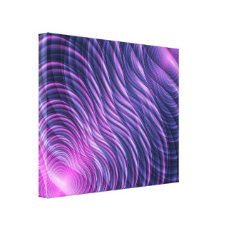 Fractal waves canvas print
