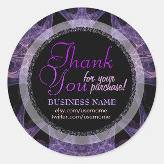 Fractal Web Business Thank You Sticker