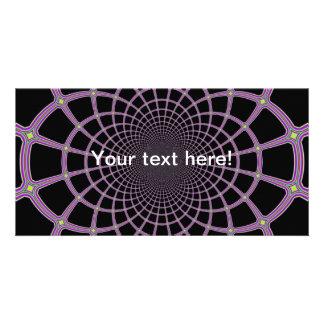 Fractal web jpg personalized photo card