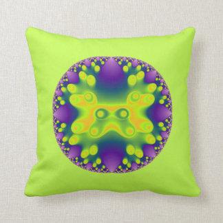 fractal yellow frog on greenish yellow pillows
