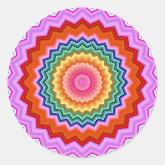 Fractal Zigzag Kaleidoscope Sticker