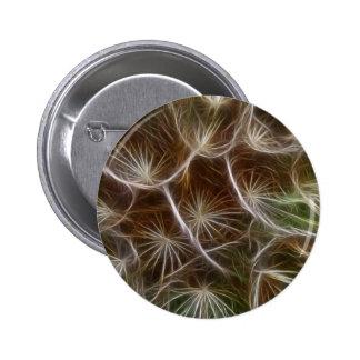 Fractalius Dandelion Close up Pinback Button