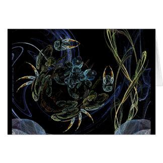 Fractalized Crustacean Card