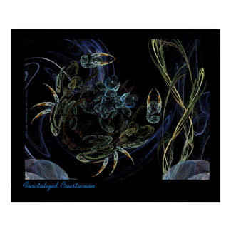 Fractalized Crustacean Poster