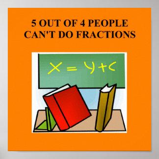 fraction math joke print